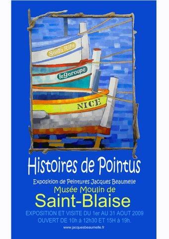 EXPOSITION DE JACQUES BEAUMELLE dans LES ARCHIVES - ANCIENNES EXPOSITIONS affiche1expojbeaumelleaout2009